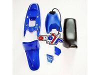 New YAMAHA PW 50 Plastics Plastic Kit Tank Seat Front & Rear Fender Blue