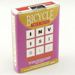 INVISIBLE-BICYCLE-RED-DECK-GAFF-PLAYING-CARDS-POKER-SIZE-MAGIC-CARD-TRICKS