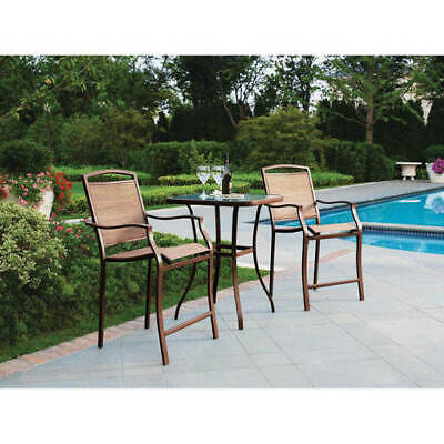 Bistro Set Outdoor Furniture (Outdoor Bistro Set Bar Height Patio Chairs And Table Backyard Deck Furniture )