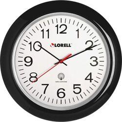 Lorell 13-1/4 Radio Controlled Wall Clock - Analog - Quartz - Atomic  LLR60994