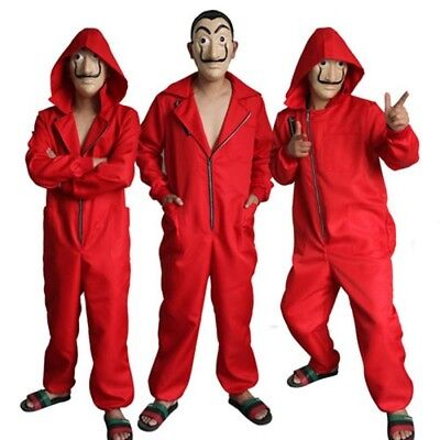 La casa De Papel Cosplay Costume Salvador Dali Money Heist Coverall Jump suit