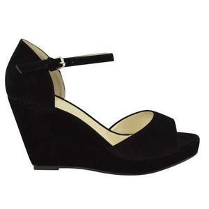 92b5afd8990 Ladies Black Wedge Sandals