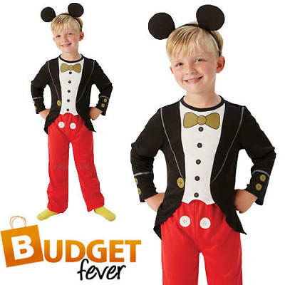 Disney Mickey Mouse Tuxedo Boys Fancy Dress Childs Kids Childrens Costume Outfit