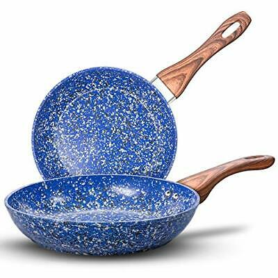 """Nonstick Frying Pans Set With Stone-Derived Coating Stone Skillets 9.5"""" & 11"""""""