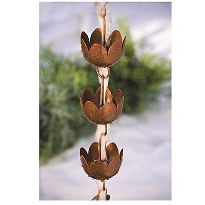 Rain Chain - Decorative Lily Shaped Copper Cups New