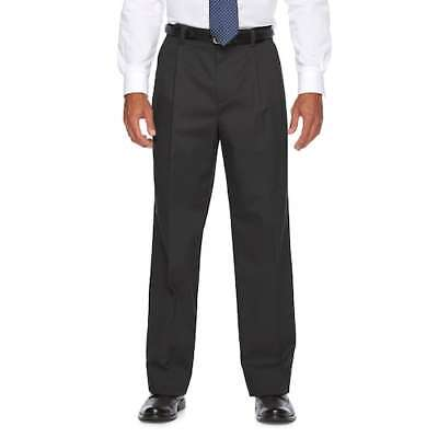 Mens Croft & Barrow Easy-Care Stretch Pleated Classic Fit Pants New Large SIzes