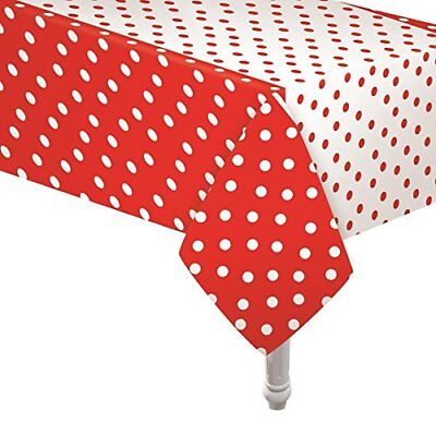 Red and White Polka Dot Tablecloth; Minnie Mouse Theme; Ladybug Theme Tablecloth