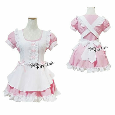 Halloween Kostüme Rosa Kleid (Balala the Fairies Cosplay Kostüm Kleid Halloween Maid Rosa Mädchen Lolita Girl)