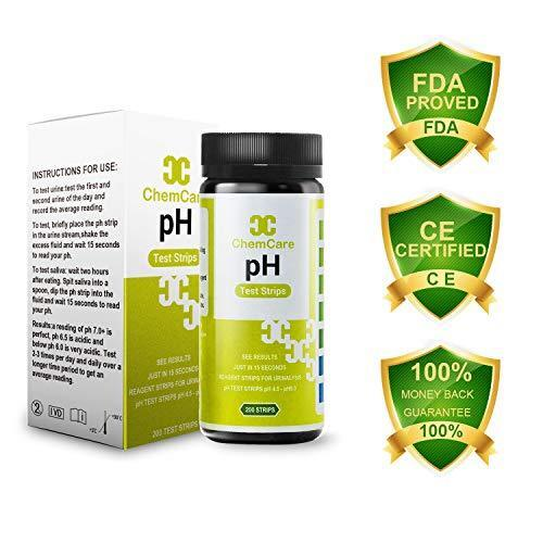 pH Test Strips,Acid and Alkaline Test Strips for Monitoring Your Body pH Balance