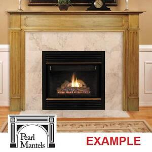 """NEW PEARL MANTELS 72"""" SURROUND - 115360357 - THE WILLIAMSBURG UNFINISHED MANTEL SURROUNDS FIREPLACE FIREPLACES SHELF ..."""