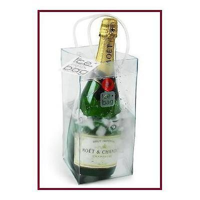 Clear Plastic Ice Bag Collapsible Wine Cooler Bag with handles New Collapsible Ice Cooler Bag