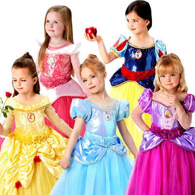 Disney Princess Costumes For Kids (Disney Premium Princess Girls Fancy Dress Deluxe Fairytale Kids Childs)