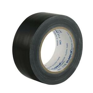 3 Rolls 48mm x 25m Black Adhesive Cloth, Gaffa, Gaffer, Book Binding Tape