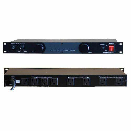Gem Sound GL99 Dual Lights W/light Dimmer Control, 8 Ac Outletrack Mountable