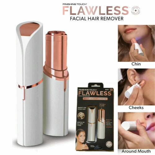 Flawless Womens LED Lighted Electric Facial Hair Remover - Chin, Face, Body NEW