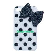Black Polka Dot iPhone 4 Case
