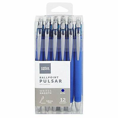Foray Pulsar Advanced Ink Ballpoint Pens Conicalmedium Point 0.8 Mm Blue ...