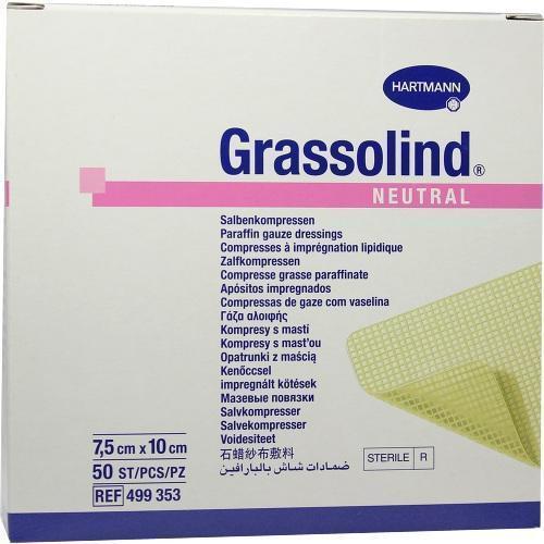 GRASSOLIND Salbenkompressen 7,5x10 cm steril 50 St