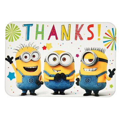 DESPICABLE ME Minion Fun THANK YOU NOTES (8) ~ Birthday Party Supplies Cards
