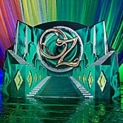 WIZARD OF OZ EMERALD CITY STAIRWAY BACKGROUND * party decoration * photo opp