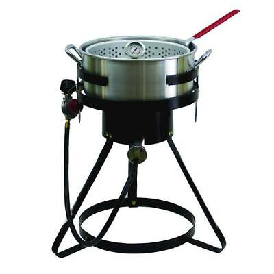 13 Outdoor Propane Gas Fish Fryer 50000 Btus With Heavy Duty 10.5 Qt Stockpot