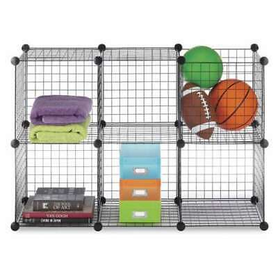 Whitmor Black Wire Stackable Storage Cubes Shelving Unit - 6 (Open Box)