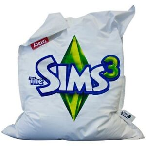 Extra Large White Fatboy Beanbag - Rare The Sims Edition