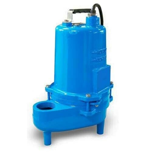 """Submersible SEWAGE TRASH Pump - 2"""" Out - 132 GPM - 115 V - 0.4 HP - Self Priming"""