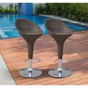 Brand New @ WWW.BETEL.CA || 2-Pack Contemporary Wicker Finish Swivel Pub Bar Stools || Set of 2 || Free Delivery!!