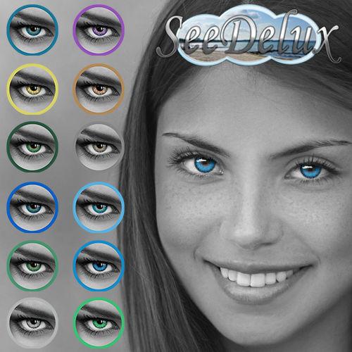 """Farbige Jahres-Kontaktlinsen  in 12 """"Rainbow"""" Farben - wunderschön & angenehm"""
