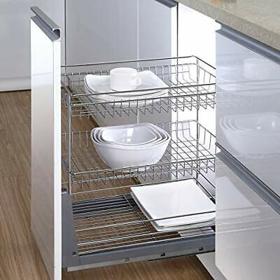 """Kitchen Hardware Collection 13.6"""" Pull Out Cabinet Organizer 2 Tier Spice Rack"""