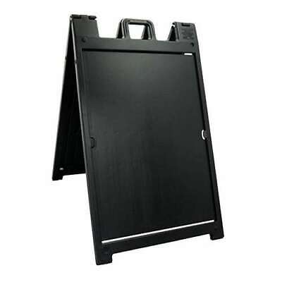 Plasticade Signicade Portable Folding Double Sided Sign Stand Black Open Box