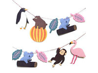 IN THE ZOO GARLAND DIY KIT Animal Bunting Baby Boy Bedroom Party Decor Banner