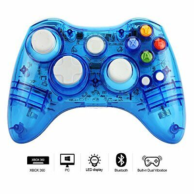 Wireless Transparent Joystick Remote Controller Gamepad For Xbox 360 & PC Games