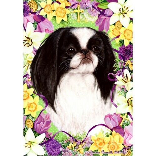 Easter House Flag - Japanese Chin 33133