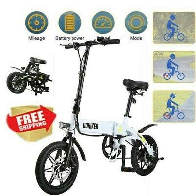 DOHIKER Bicicleta eléctrica E-Bike plegable Portátil ciclomotor LED 25km/h 120KG