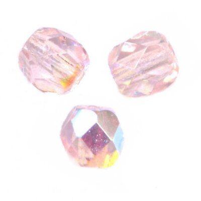 50 Perles Facettes cristal de boheme 4mm - ROSALINE AB