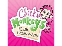 STALL HOLDERS WANTED FOR CHEEKI MONKEYS BABY & CHILDRENS MARKET