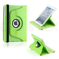 GREEN 360 ROTATING PU LEATHER CASE COVER WITH STAND FOR IPAD MIN