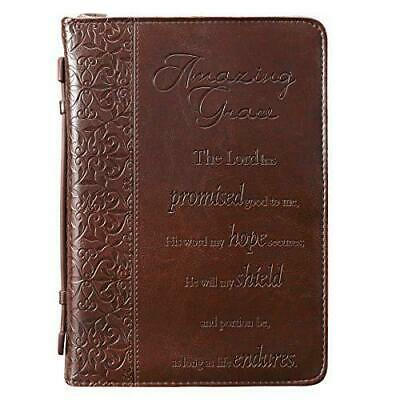 """""""Amazing Grace"""" Embossed Bible / Book Cover (Large)"""
