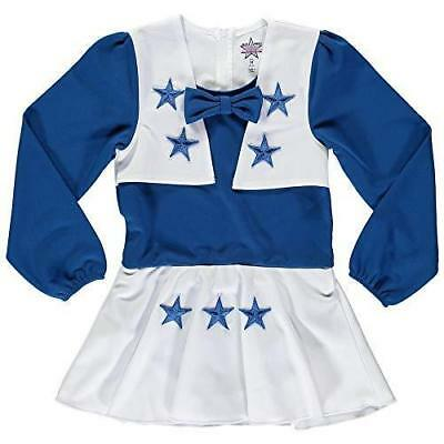 Baby Girl Dallas Cowboys (Dallas Cowboys NFL Youth Infant Girls Royal Blue and White Cheerleader)