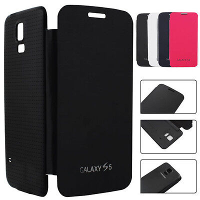 SAMSUNG GALAXY S5 i9600 Flip Case Cover PU Leather Free Screen Protector