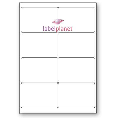 8 Per Page White Blank A4 Sticky Address Addressing Laser La