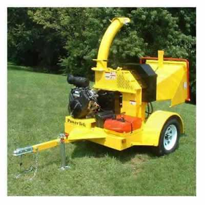 7 Wood Chipper 27hp Kohler Bandit Brush Vermeer Altec Hydraulic Auto Feed