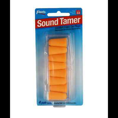 Sound Tamer Foam Ear Plugs - 4 Pair with Case