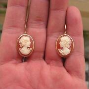Carved Shell Earrings