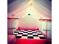 Marquee Hire / Tent - 3m x 6m - 4m x 6m - 3 x 12m - Lighting   Heating   Flooring   Chairs & Tables