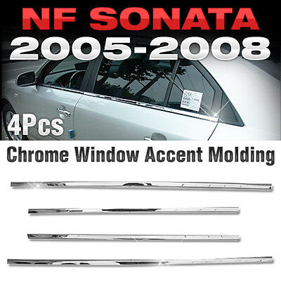 Chrome Window Accent Garnish Molding Trim A860 For HYUNDAI 2006-2008 NF Sonata