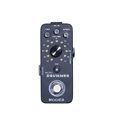 New Mooer Micro Drummer Digital Drum Machine Guitar Effects Pedal!!