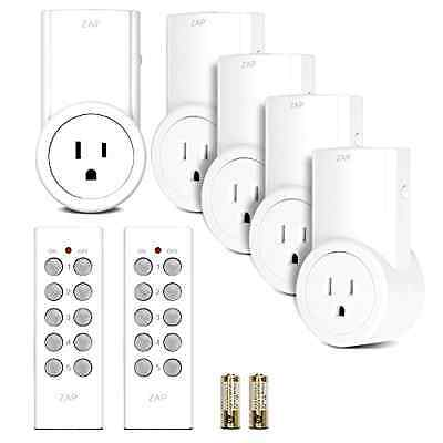 2 Remote Switch Wireless Outlet Control Socket Light 5 Pack New Power Plug Zap 2